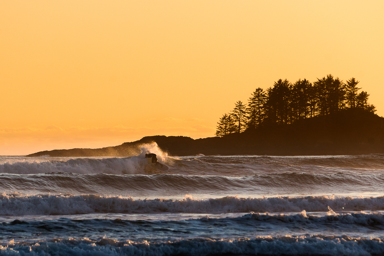 Coldwater surfing, Long Beach, Tofino, British Columbia