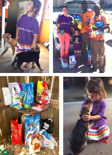 04/02/19 - One of our smallest G.I.L Volunteers Mila along with her Mom Clarissa and Dad Bruce decided instead of presents for her 4th Birthday she was going to donate Dog food for the shelter dogs at Uitsig Animal Rescue Centre. She managed to collect over 30Kg's of much needed food for the dogs! Well done to Clarissa and Bruce for teaching little Mila to care for animals at such a young age, a fantastic foundation to carry her through the rest of her life.