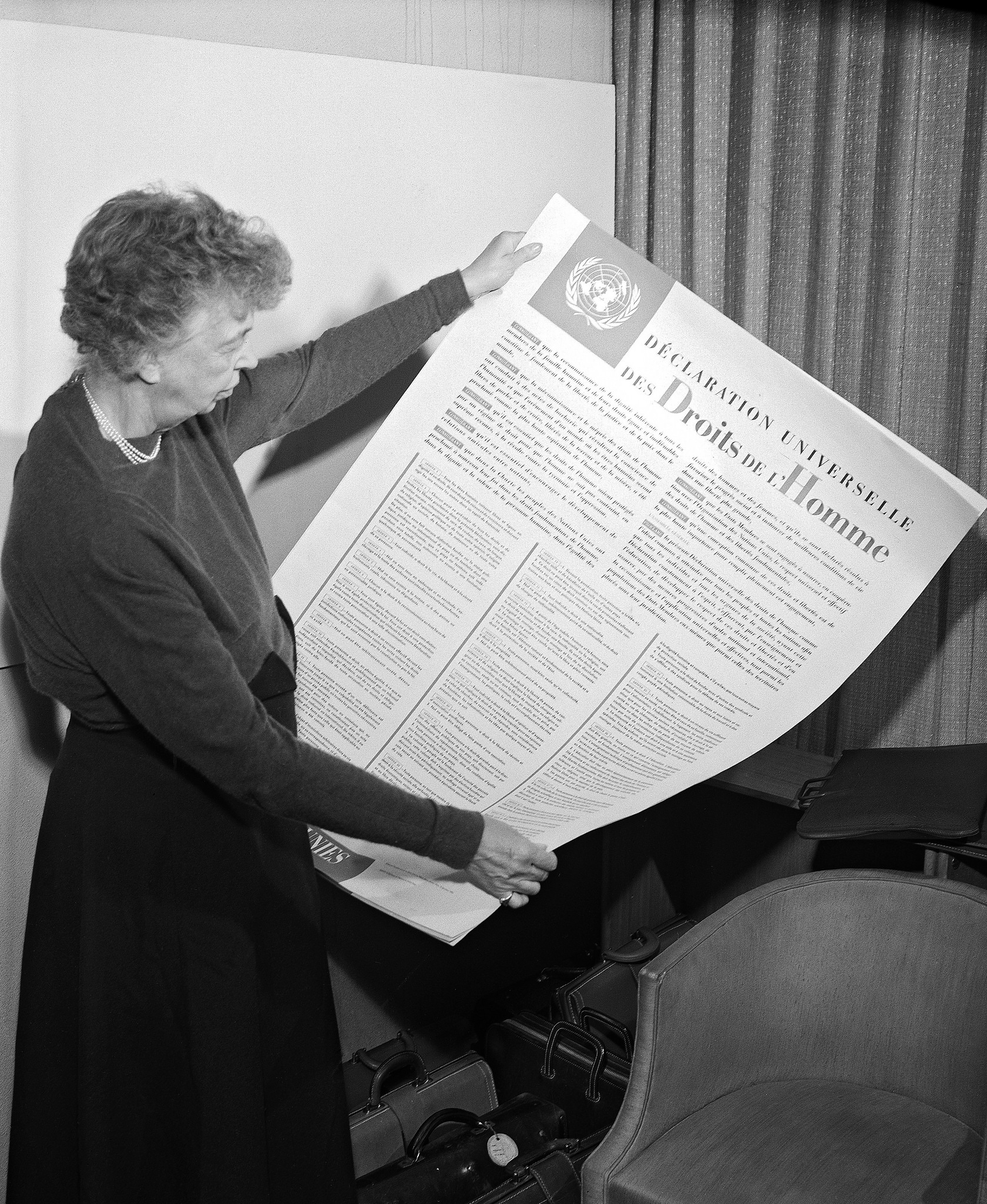 Eleanor Roosevelt holding a copy of Universal Declaration of Human Rights  (Photo: United Nations/courtesy photo)