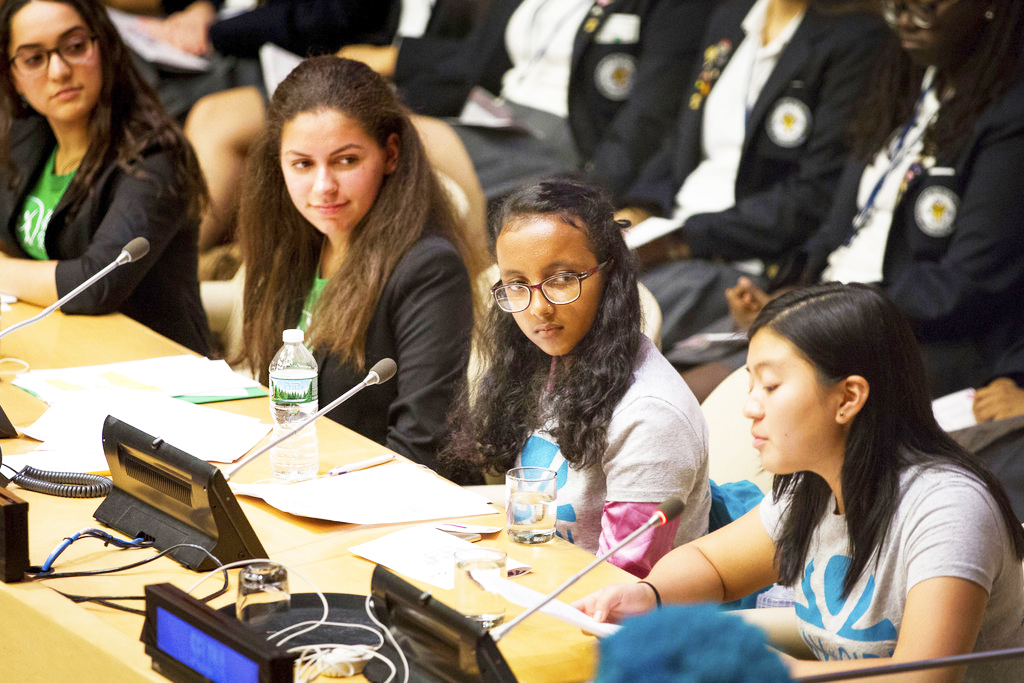 """""""Girls Speak Out"""" event at UN HQ in New York on October 11, 2018"""