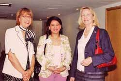 Daughter (center) of former Cyprus President, Keri Klerides; a Medical doctor from Morocco and WFWPI UN representative.