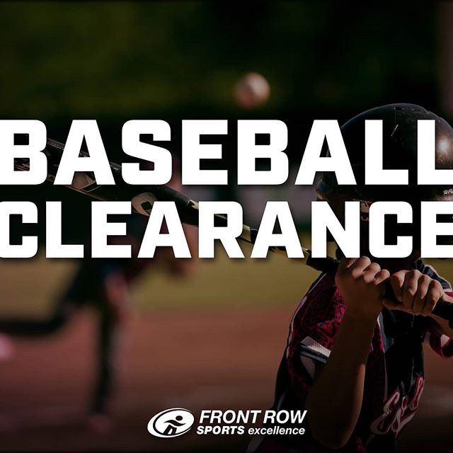 Come see us for our Baseball clearance sale!!! All baseball items 50% off (excluding bats - which are 30% off)  OR Buy any baseball item at 50% off and get 40% off bats!