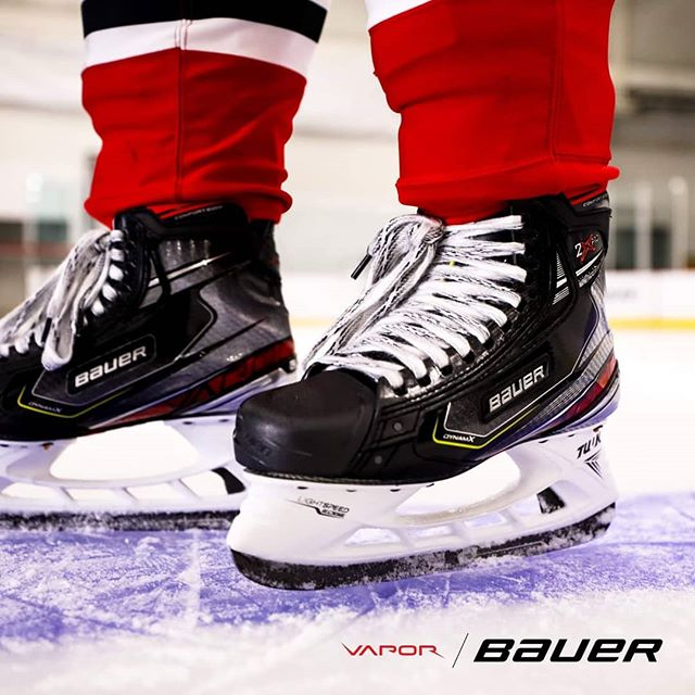 The #VAPOR2XPRO skate features an Asymmetrical Toe Cap, which was assembled using the profile of 25,000 player scans. It is optimized to enhance your push-off on every stride. #VAPORQuick