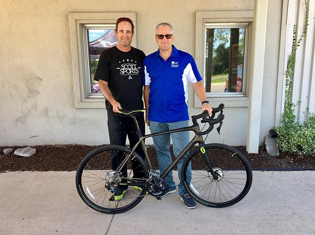 Bill Fordy stopped by to pick up a new bike! #Cycling #Bikes #Sports #NRP #CopsForCancer #TourDeGH