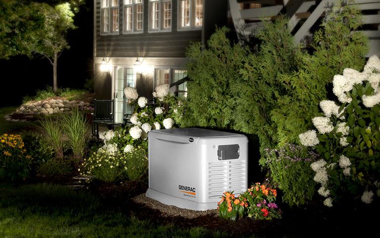 GENERAC Generator outside home