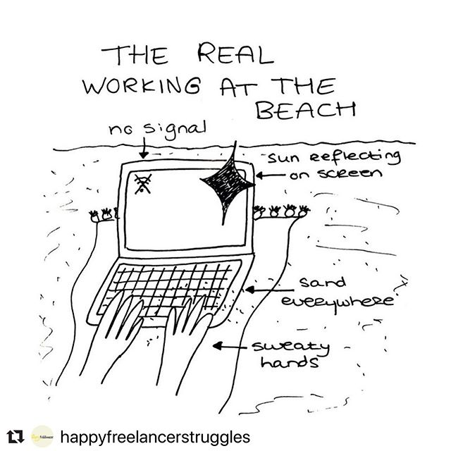 😂 #truth 🤙  #Repost @happyfreelancerstruggles ・・・ If you follow some digital nomads on Instagram (my personal account @lavieenroos included), you might be a little jealous when seeing us working from the beach. But let me get this straight, working from the beach is a nightmare! 😰 . #realista #influencer #instafamous #digitalnomadlife #digitalnomadrealities #thestruggleisreal #digitalnomade #digitalnomadgirls #goodvibesonly #remotework #creativelife #creativenomad #slaytheday #echtinsta #beachgirl ⭐️ #content #contentcreator #neversleep but def #work #poolside 😎