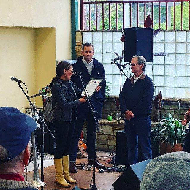 50 years🎉 Our Mayor, reading a proclamation about just how awesome Staff of Life is to Jason and Gary 🤙⭐️#local #santacruz #california #staffoflife @staffoflife #50 #50thanniversary #thisistherealdeal #visitsantacruz