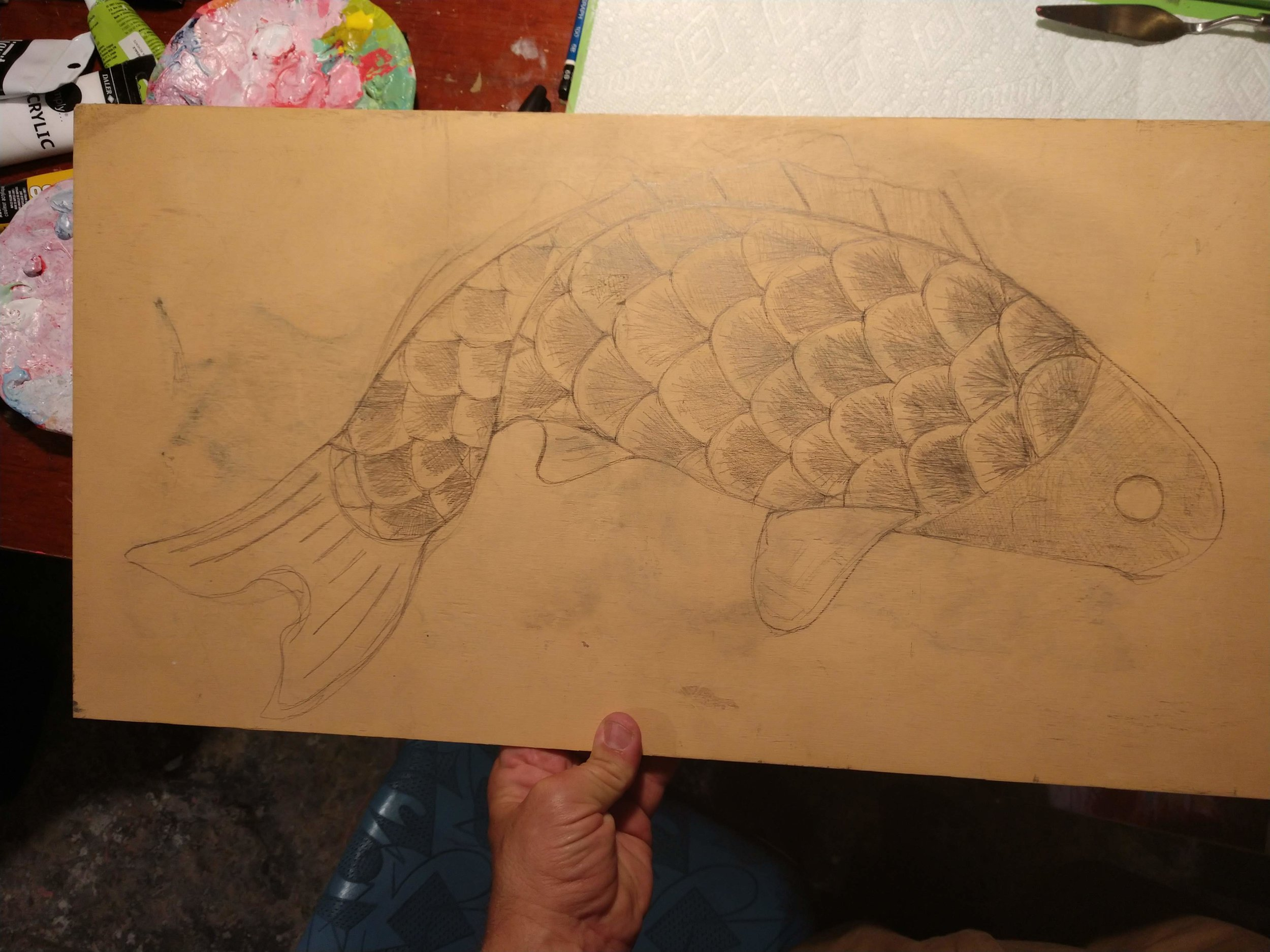 This is the sketch for a custom Koi Sign. It will hang as to resemble a traditional  Japanese  Koinobori  windsock . Landscapes across Japan are decorated with  koinobori  from April to early May, in honor of children for a good future and in the hope that they will grow up healthy and strong.