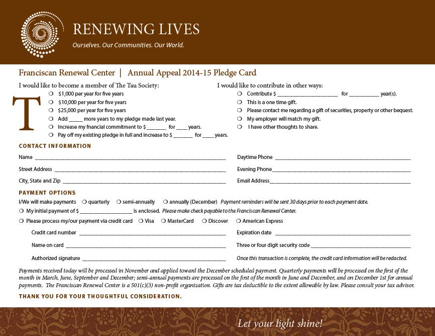 Sustainability Pledge Form