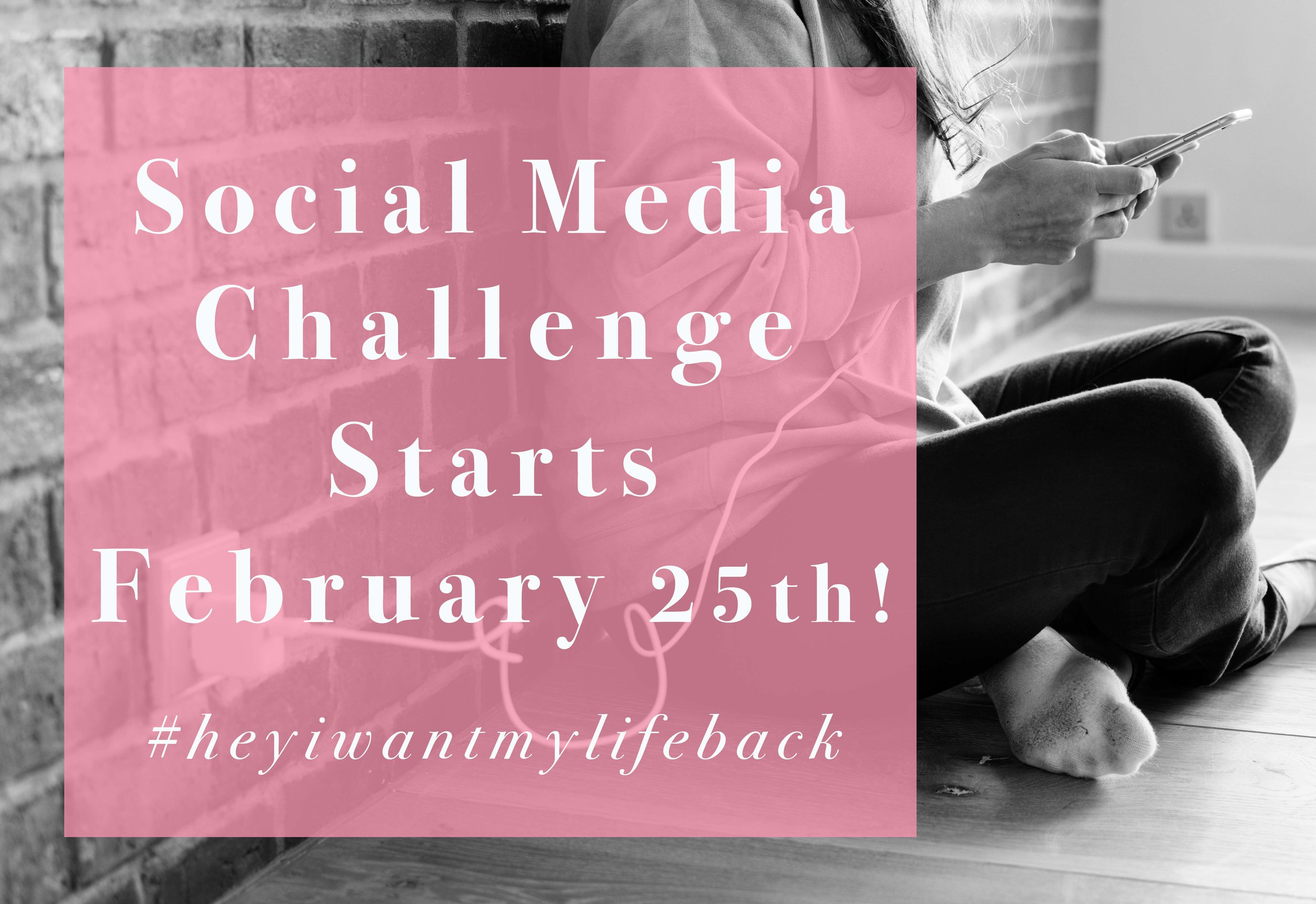 Sign up to join our social media challenge to help you build a better relationship with social media.