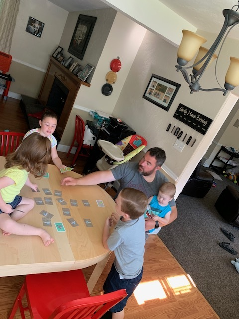 """As I was getting ready to make these cookies, I hollered and asked who wanted to help me. I got a resounding """"Not me!"""" When Dad is home, mom is chopped liver. They'd much rather play card games or be outside with Dad."""