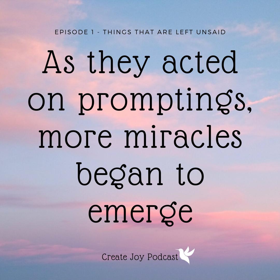 miracles began to emerge