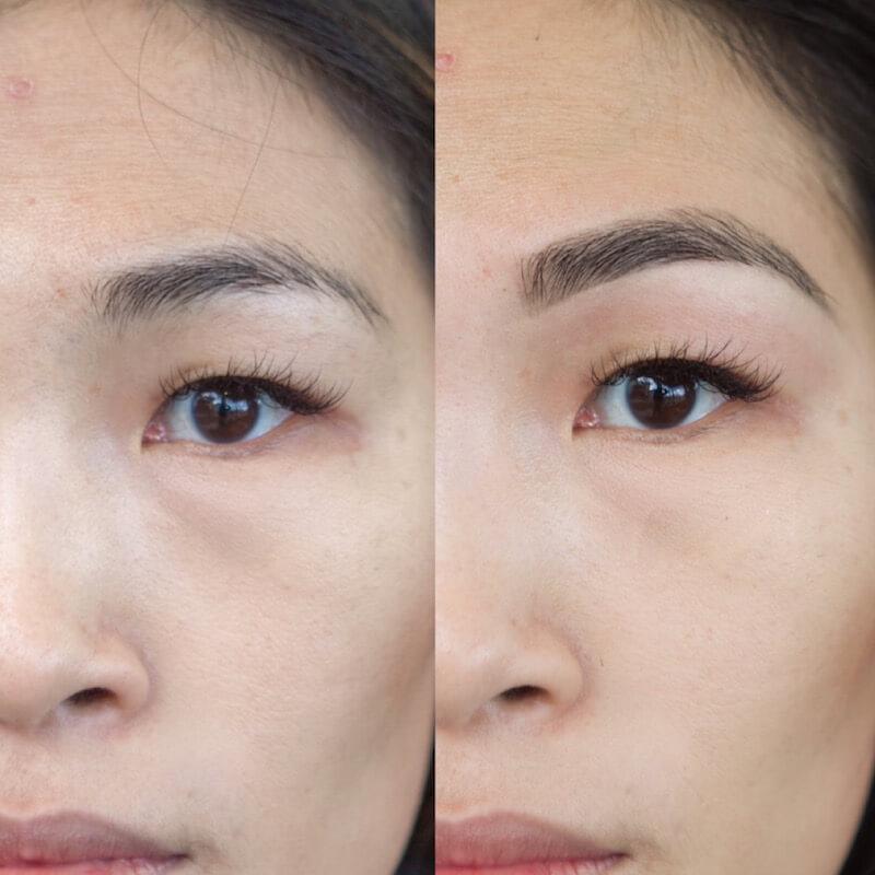 brow wax + tint