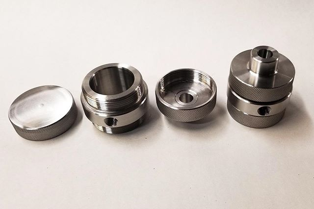 "A few more ""pretty"" parts completed. ⠀⠀⠀⠀⠀⠀⠀⠀⠀ #machineshop #manufacturing #cncmachining #welding #milling #metal #metalfabrication #fabrication #industrial #steel #solution #customized #machining #canada"