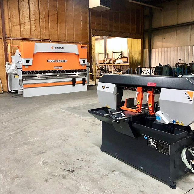 Take a look at our new CNC Brake Press and Semi-Automatic Saw.  Both are now fully operational and ready for your fabrication needs!  #fabrication #CNC #cutting #bending #customfabrication #machineshop #braking #manufacturing #northbay