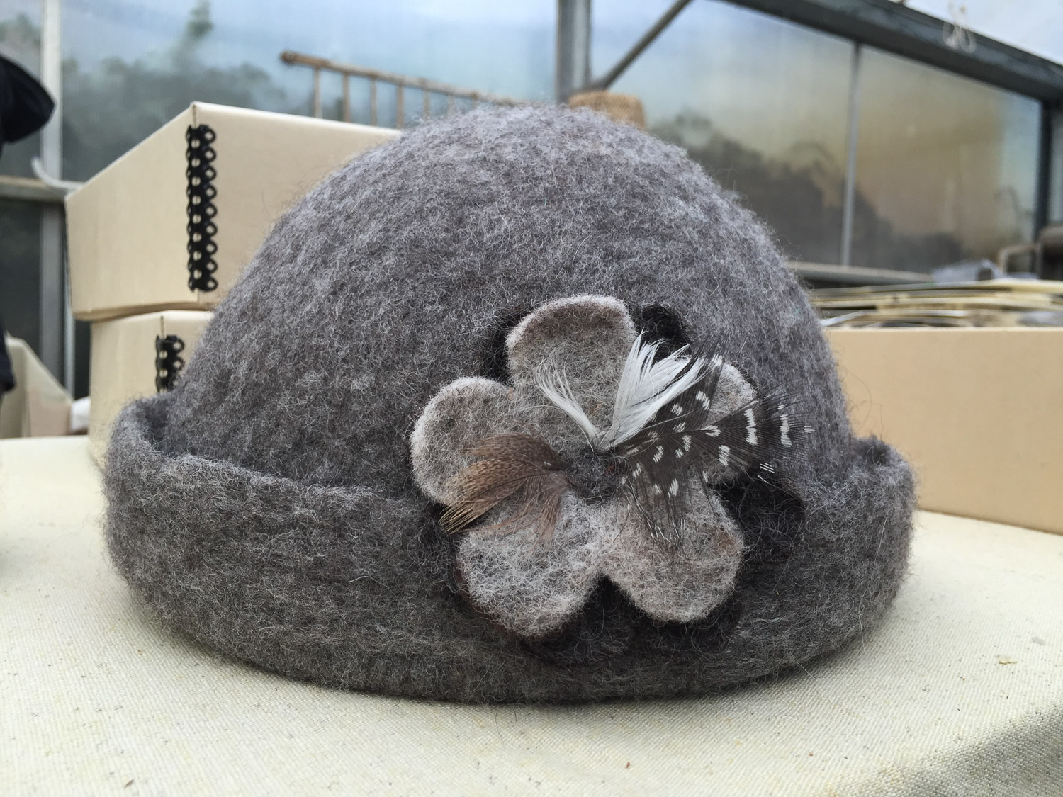 Felted hat by Colleen