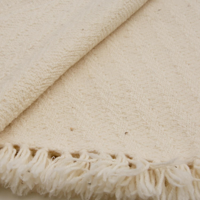 White wool throw