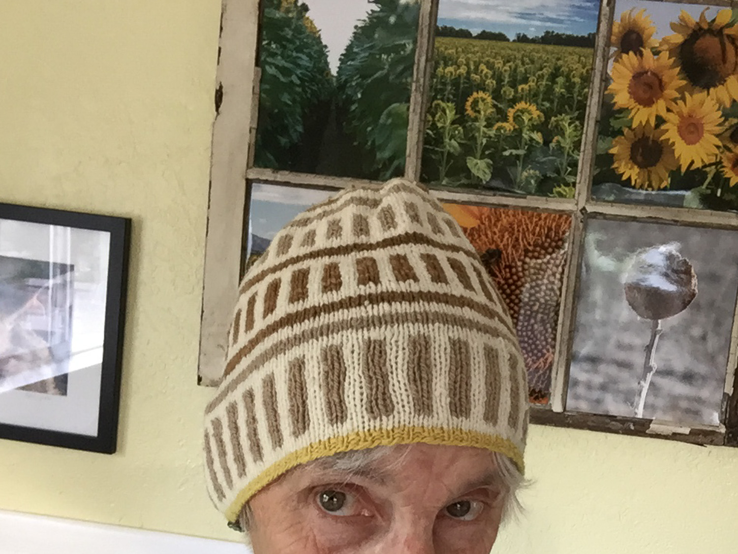 Hand knit Lineate beanie