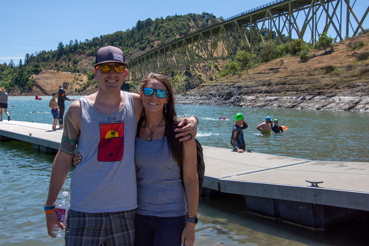 Matt and Kaleena at Lake Sonoma.