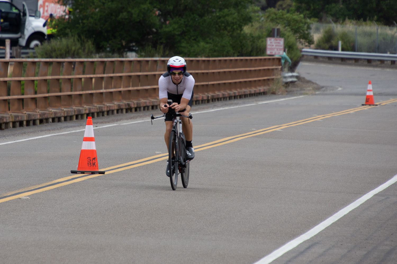 Cyclist in Santa Rosa Ironman