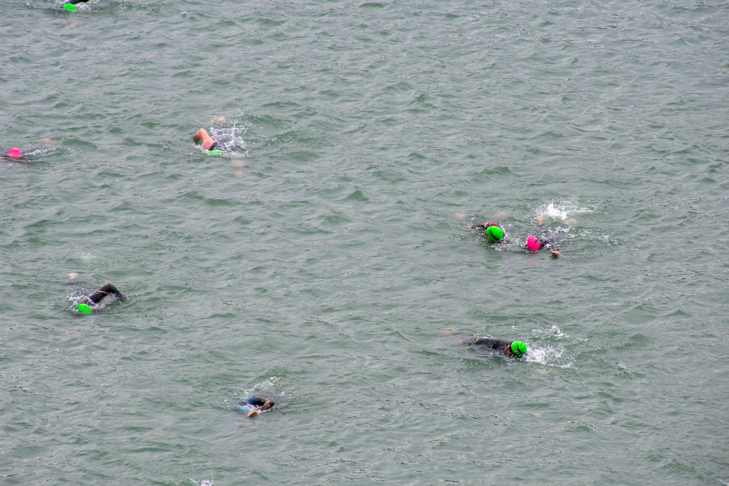Swimming in Santa Rosa Ironman 2019