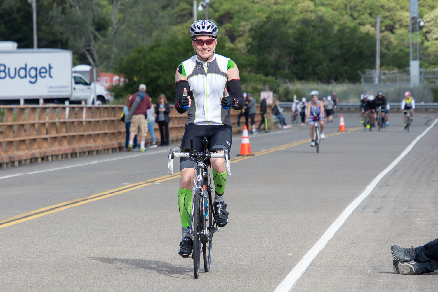 Cyclist after swim at Santa Rosa Ironman.