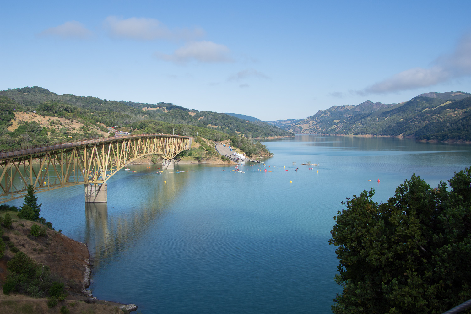 Lake Sonoma after Ironman.