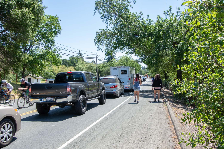 Traffic jam at Ironman 2019