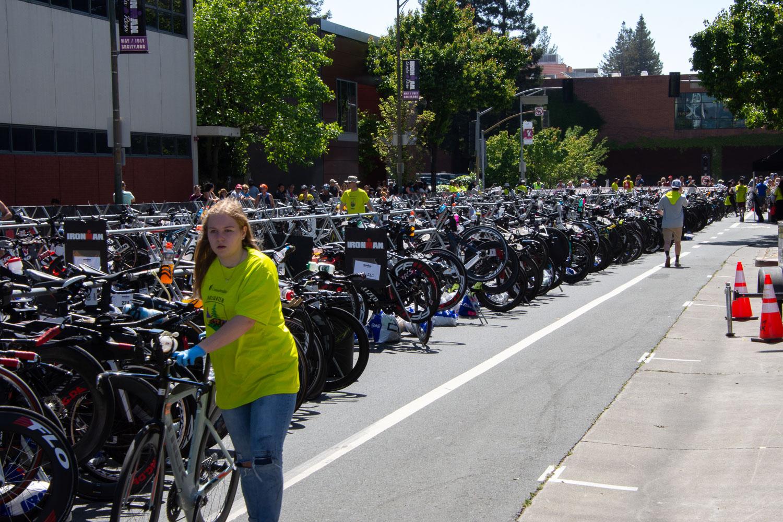 Bikes at Ironman Santa Rosa
