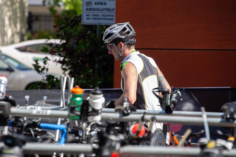 Bike/run transition at Ironman Santa Rosa 2019