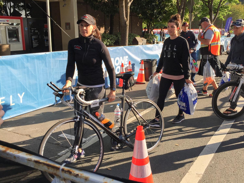 Retrieving bike after Ironman Santa Rosa