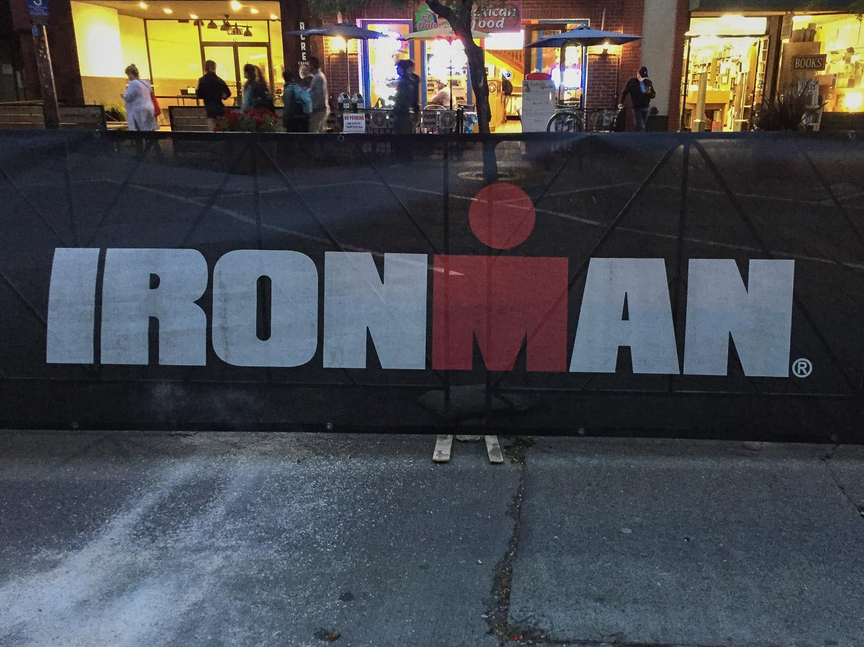 Waiting for Ironman finish.
