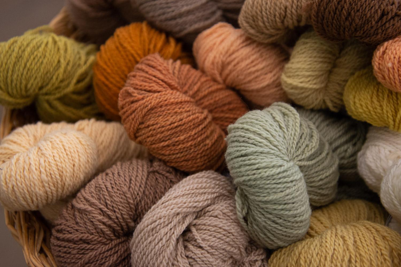 Locally grown yarn