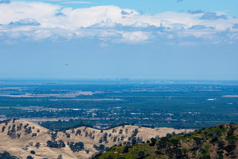 Sacramento seen from Stebbins Cold Canyon