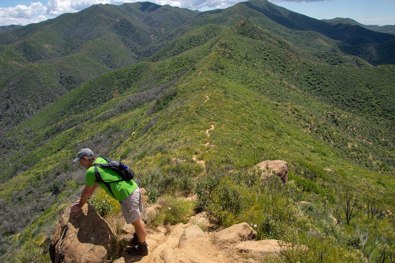 Ridge line trail at Stebbins Cold Canyon