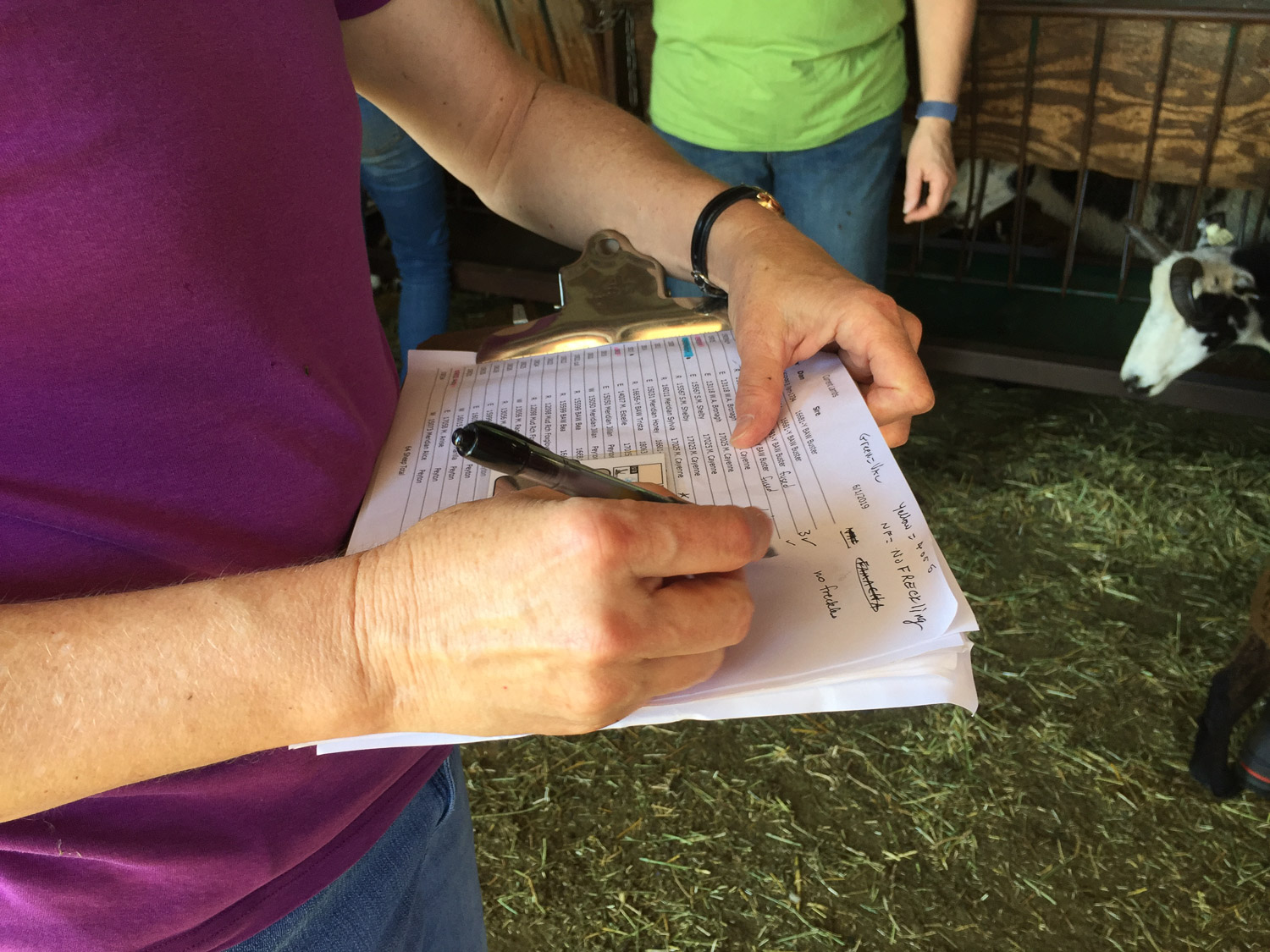 recording notes with Farm Club at Meridian Jacobs