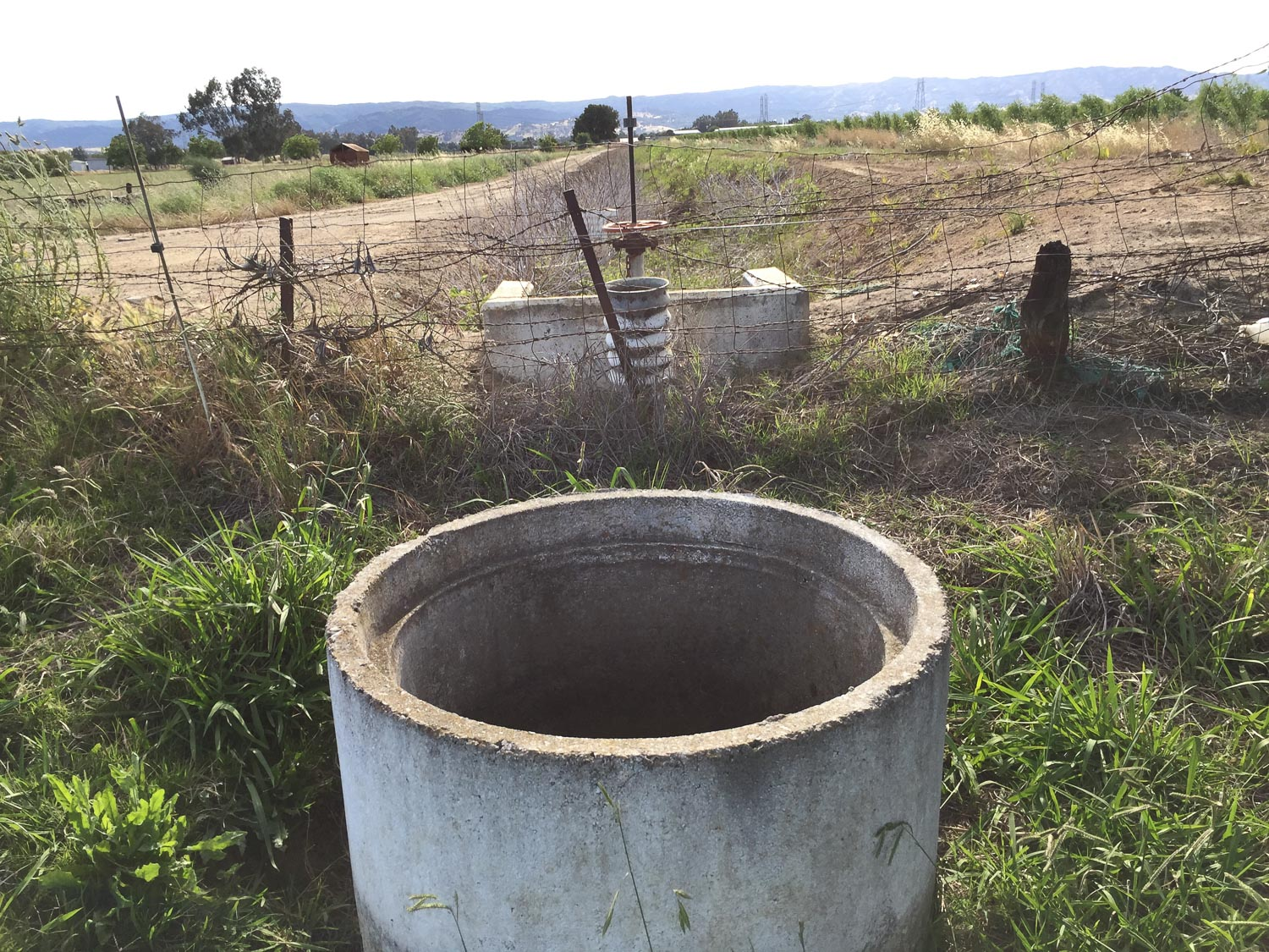 Stand pipe at corner of property