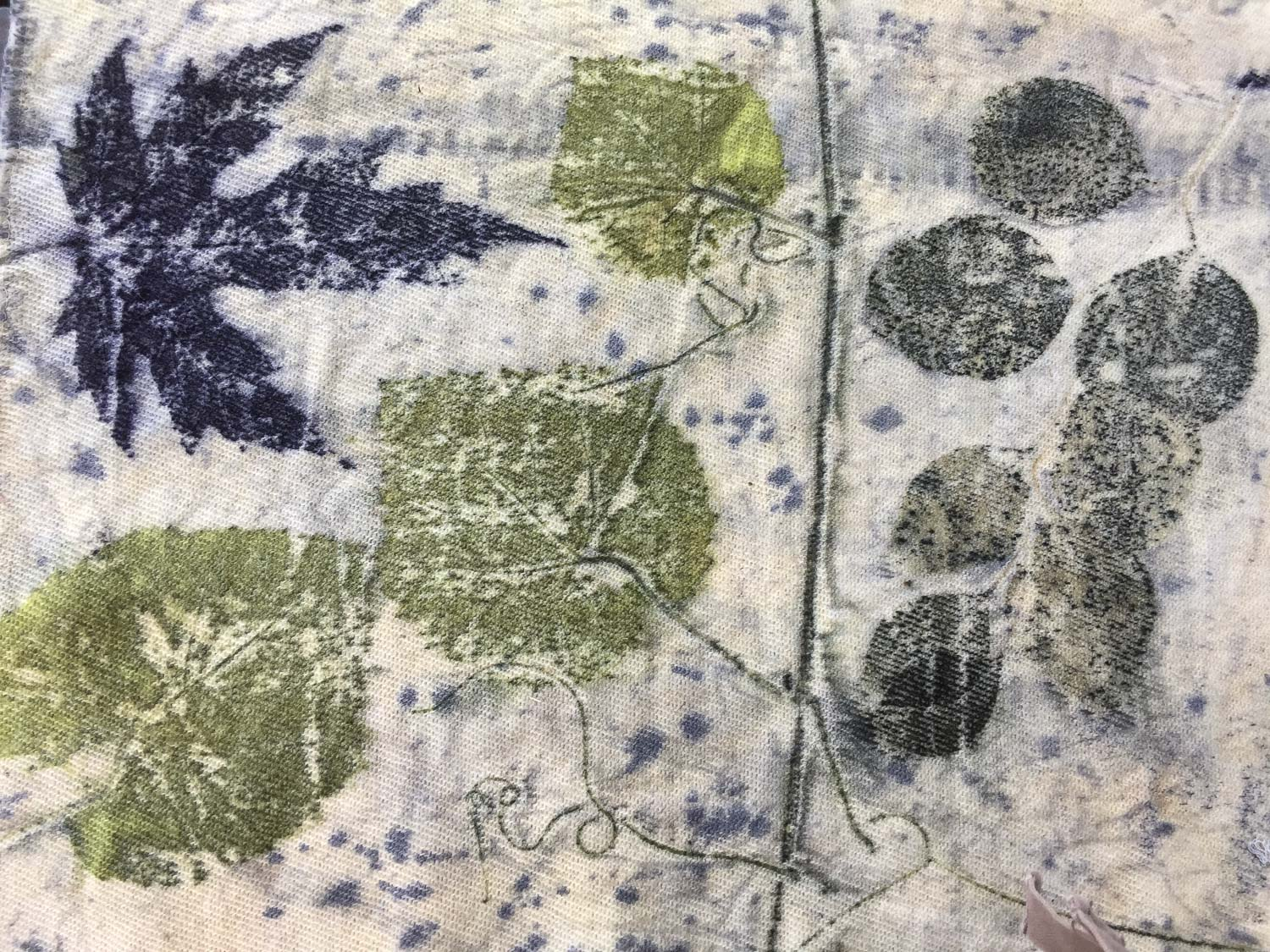 Wool fabric after eco printing.