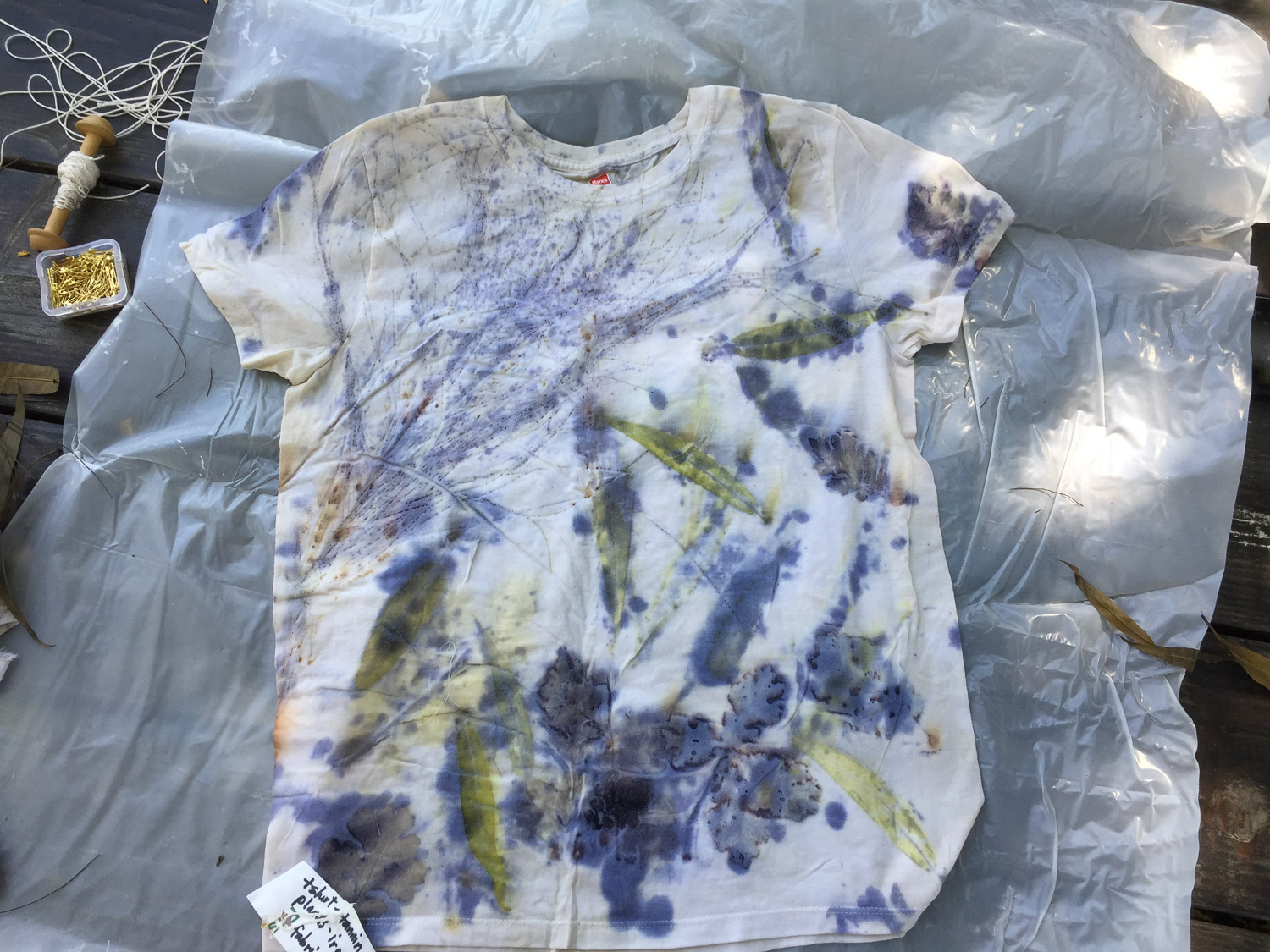 Eco printed t-shirt