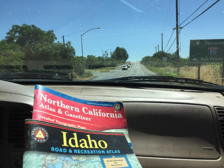 Road trip to Idaho begins.