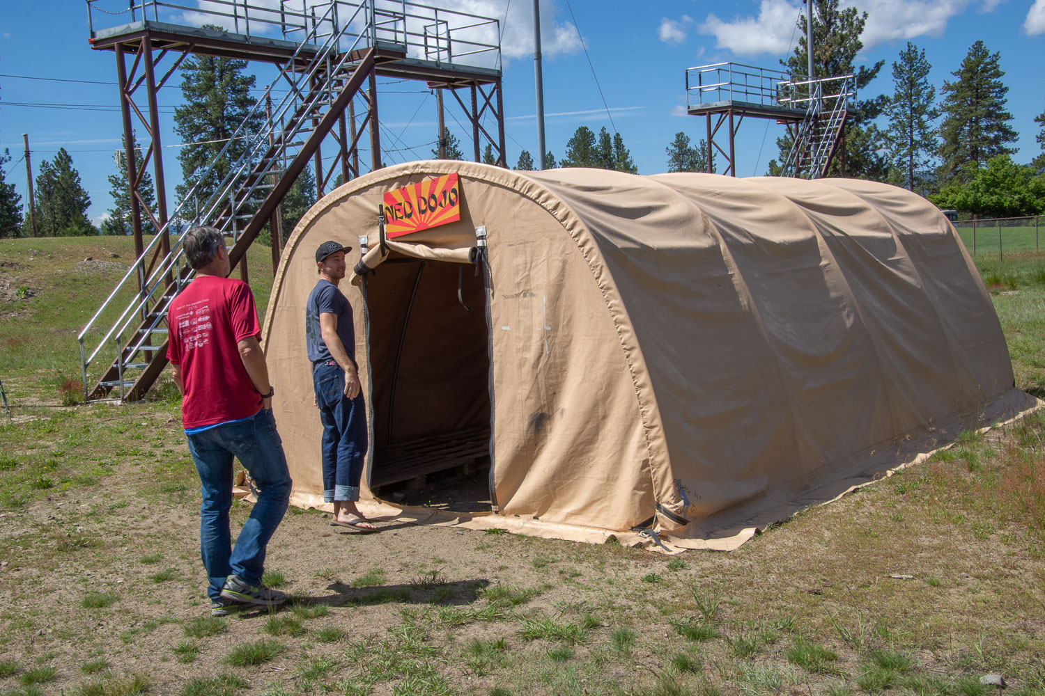 Rookie training area at smokejumper base
