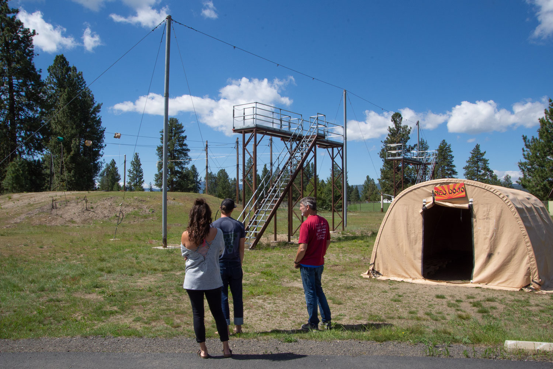 Smokejumper training area at McCall Smokejumper base.
