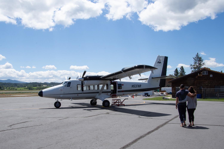 Twin Otter smokejumper airplane.