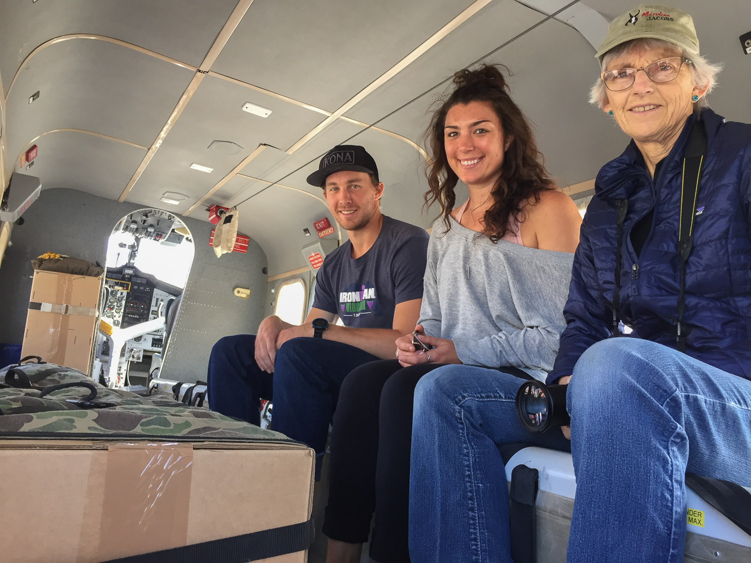 Inside the smokejumper Twin Otter at McCall Idaho.