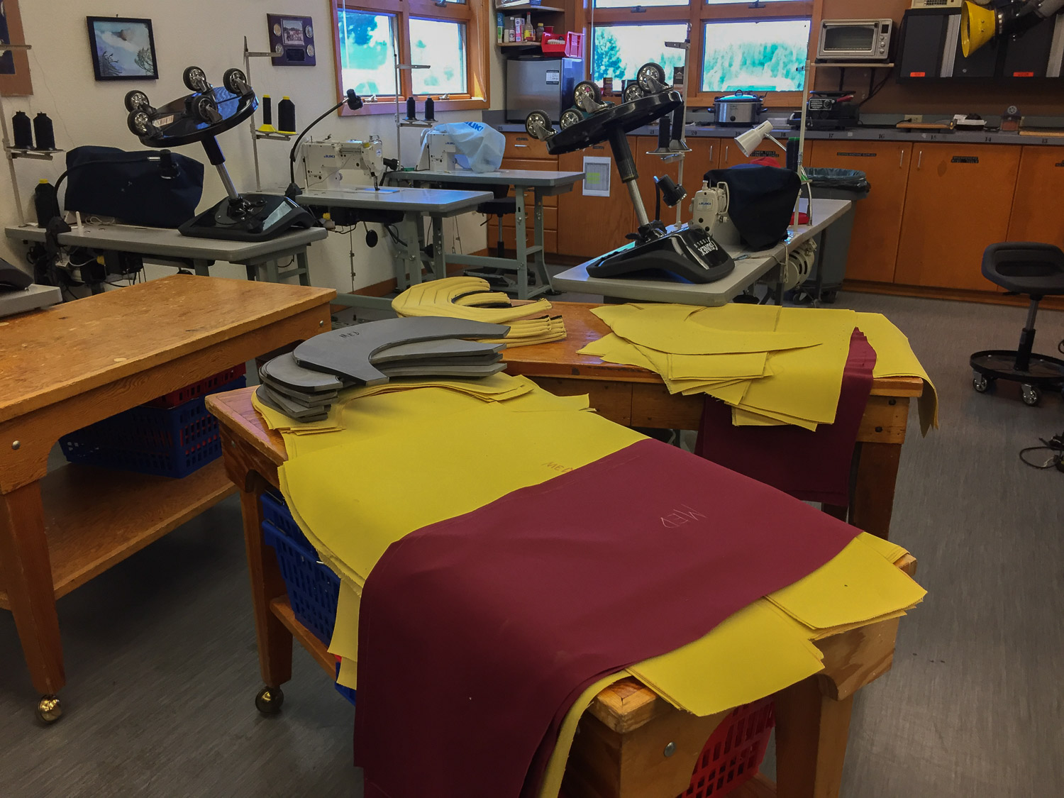 Smokejumper gear being constructed at McCall Idaho.