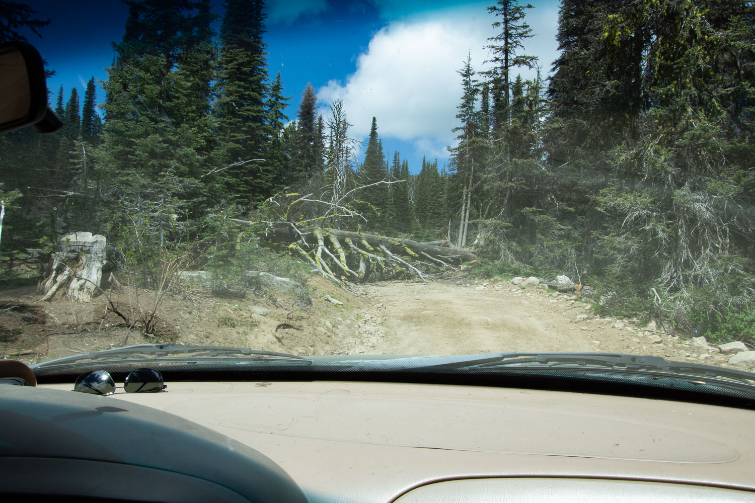 On the road to Brundage Mountain Lookout.