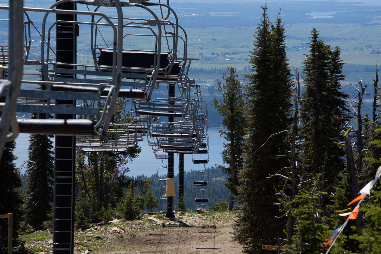 Ski lift at Brundage Mountain, McCall, Idaho.