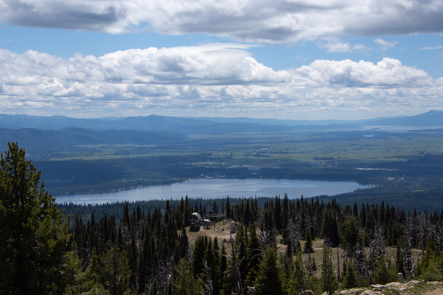 Payette Lake and McCall Idaho from the Brundage Mountain lookout.