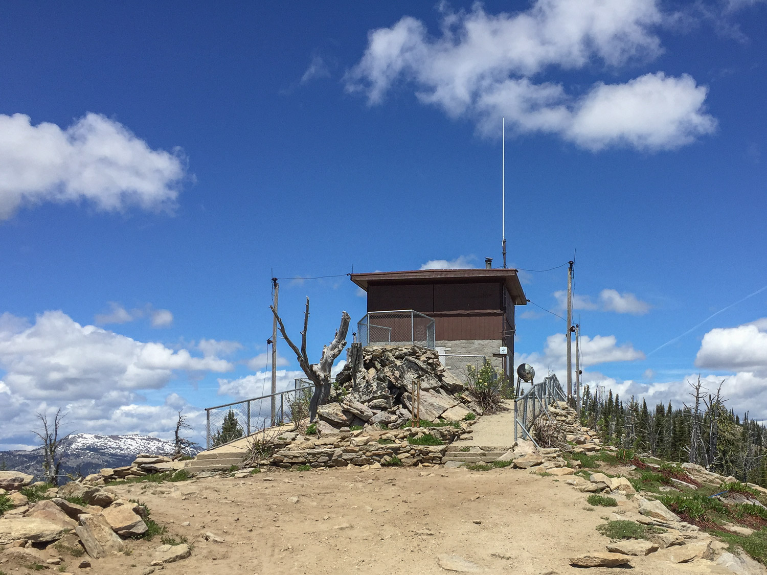Brundage Mountain lookout.