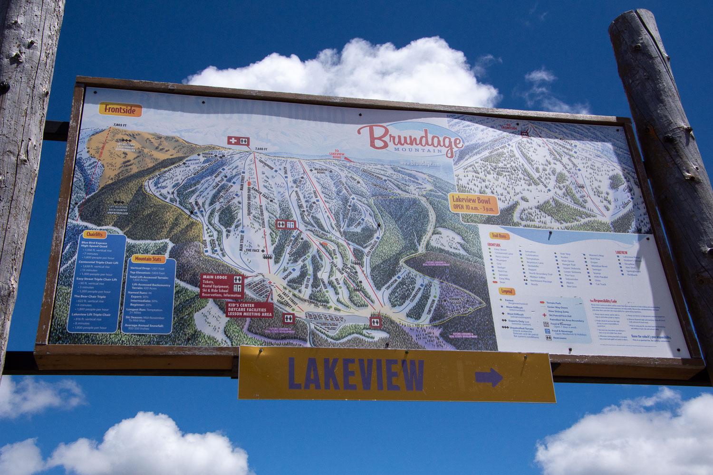 Map of ski runs at Brundage Mountain.